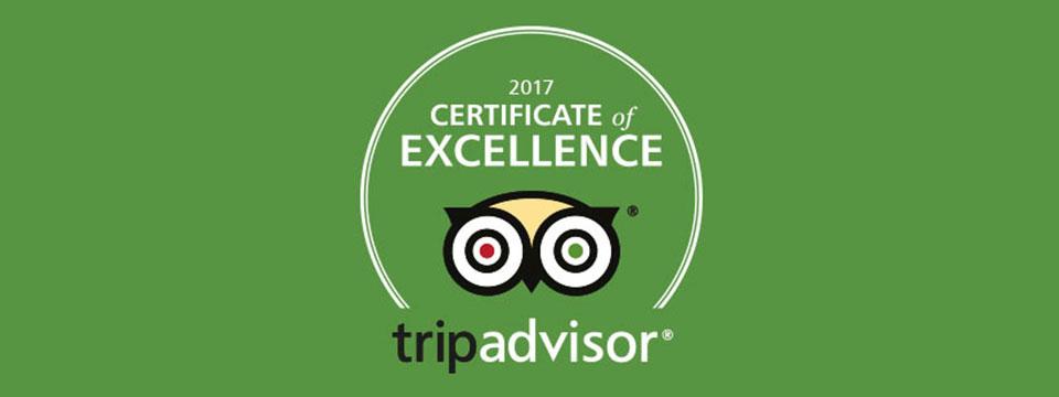 Press Release 2017 Tripadvisor Certificate Of Excellence Award